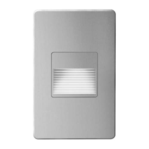 120VAC input, L125mmxW78mmxH37mm, 2700K, 3.3W IP65,  Brushed Aluminum Wall LED Light