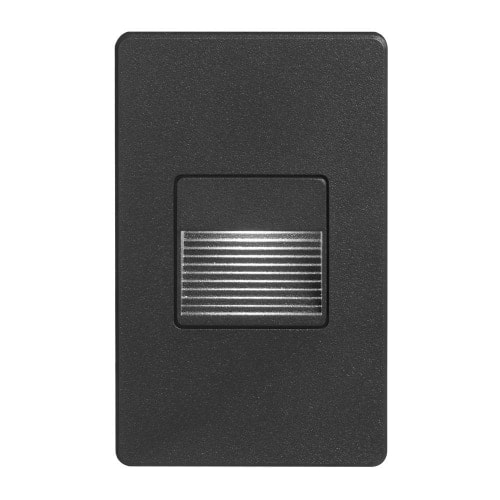 120VAC input, L125mmxW78mmxH37mm, 2700K, 3.3W IP65, Black Wall LED Light