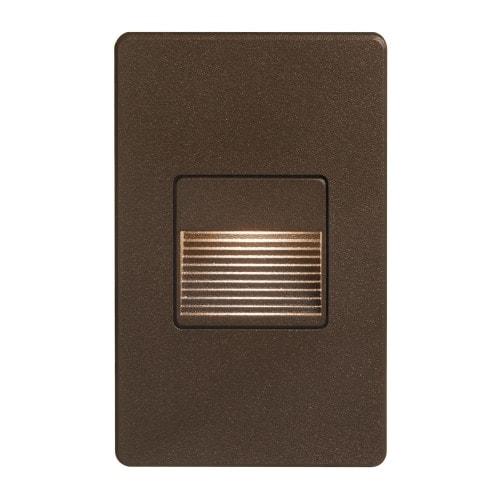 120VAC input, L125mmxW78mmxH37mm, 2700K, 3.3W IP65, Bronze Wall LED Light