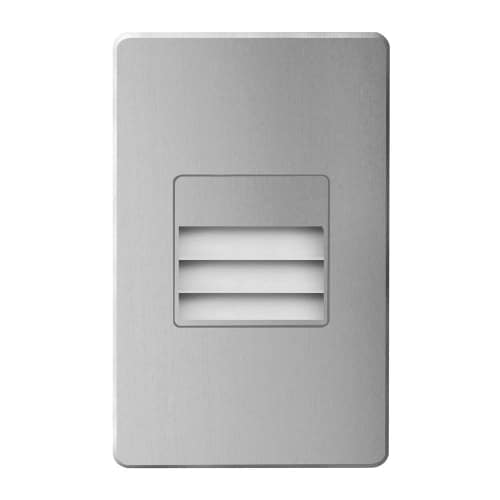 120VAC input, L125mmxW78mmxH37mm, 2700K, 3.3W IP65,  Brushed Aluminum Wall LED Light with Louver.