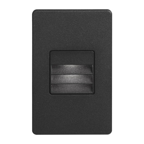 120VAC input, L125mmxW78mmxH37mm, 2700K, 3.3W IP65, Black Wall LED Light with Louver.