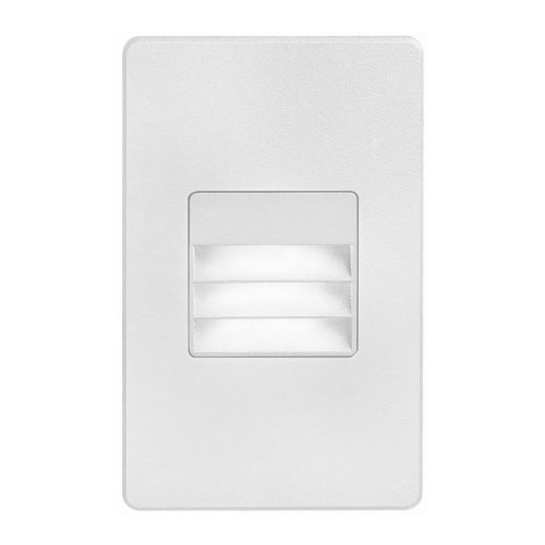 120VAC input, L125mmxW78mmxH37mm, 2700K, 3.3W IP65, White Wall LED Light with Louver