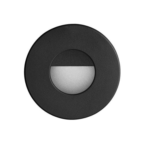 120VAC input, Ø88xH82mm, 2700K, 3.3W IP65, Black Wall LED Light.