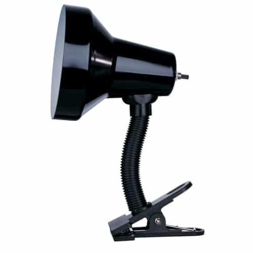 Clip-On Lamp, Gloss Black