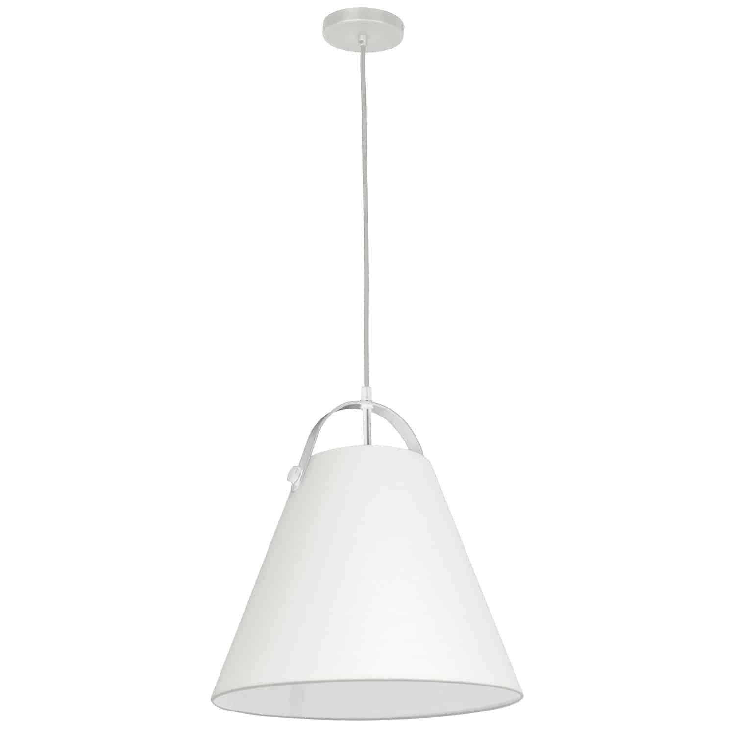 1 Light Emperor Pendant White with Off White Shade