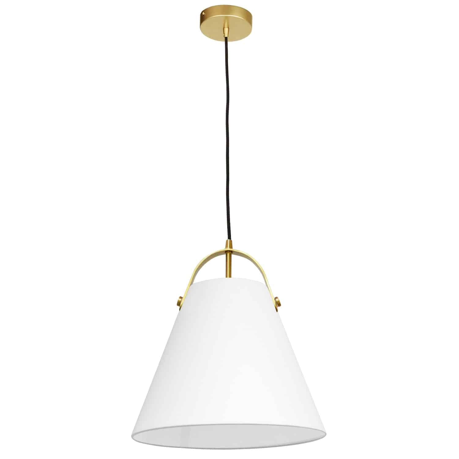 1 Light Emperor Pendant Aged Brass with White Shade