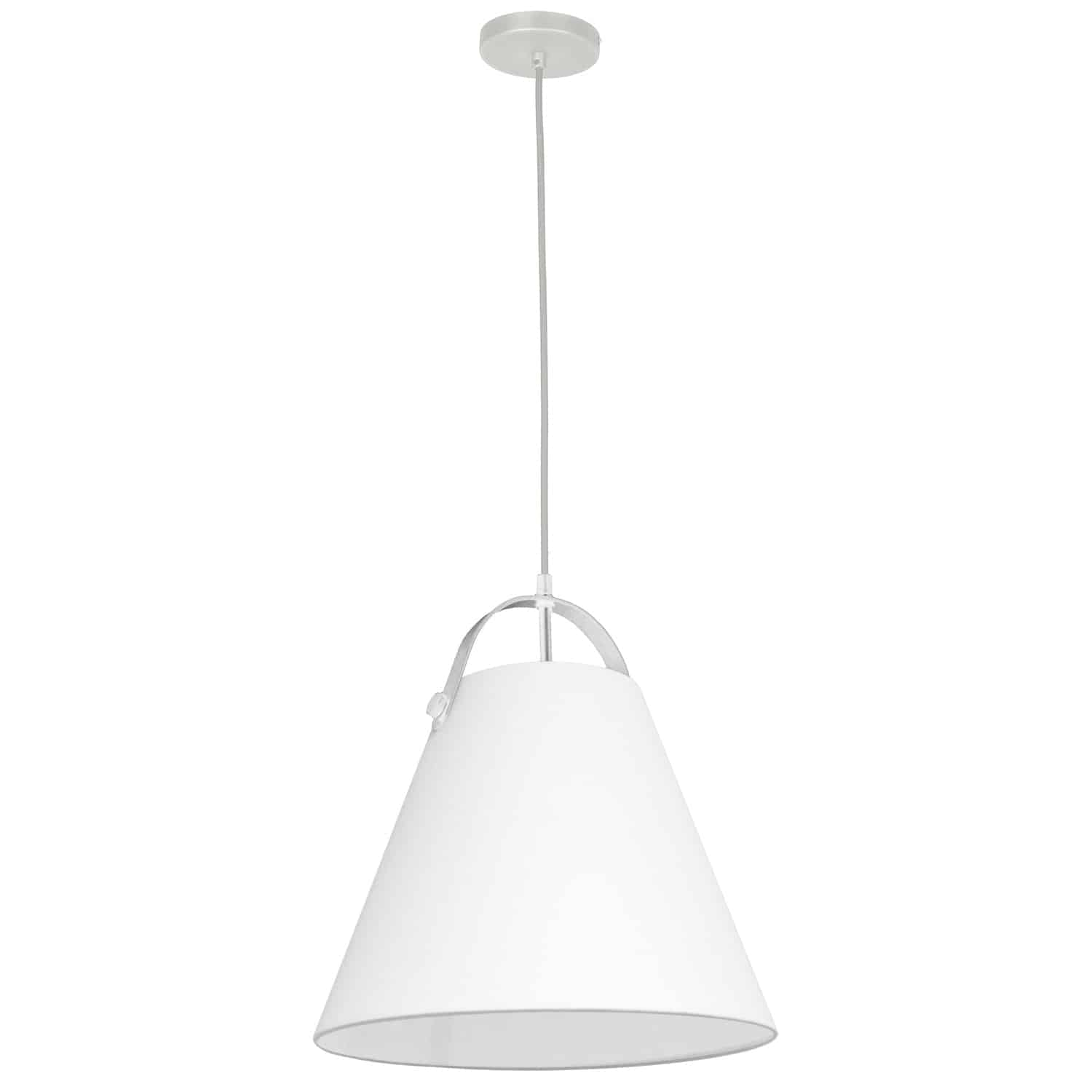 1 Light Emperor Pendant White with White Shade