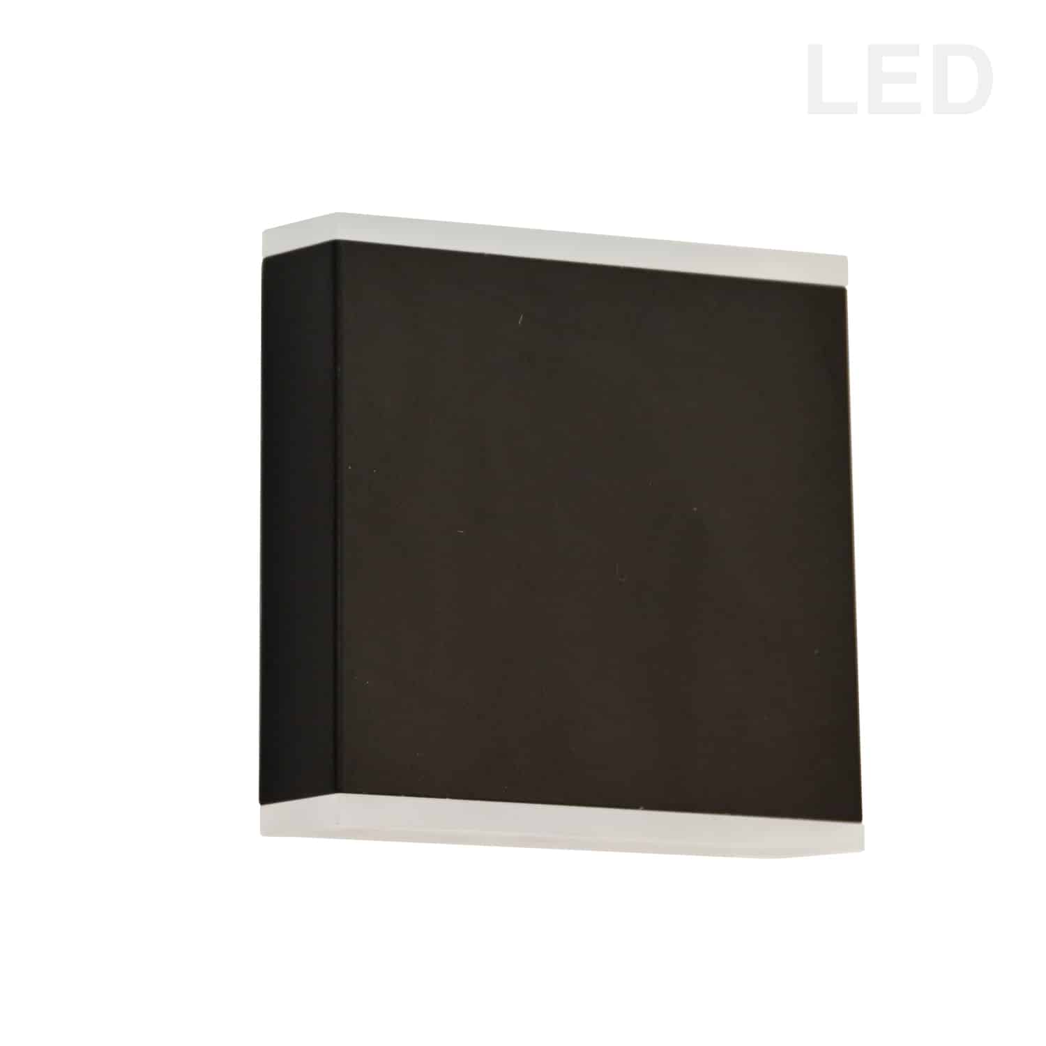 15W LED Wall Sconce, Matte Black with Frosted Acrylic Diffuser