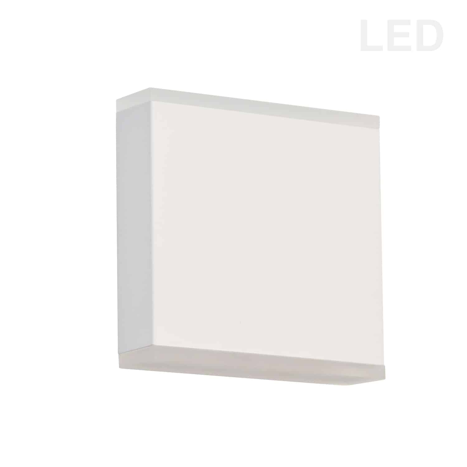 15W LED Wall Sconce, Matte White with Frosted Acrylic Diffuser