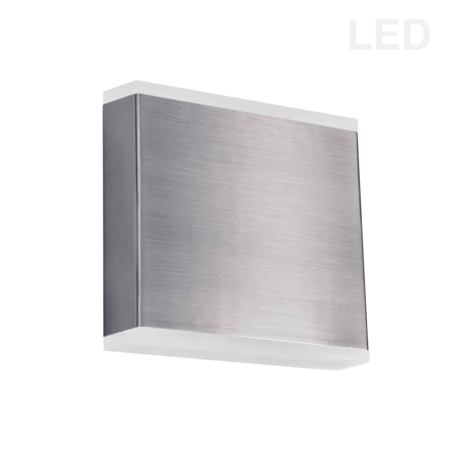 15W LED Wall Sconce, Satin Chrome with Frosted Acrylic Diffuser