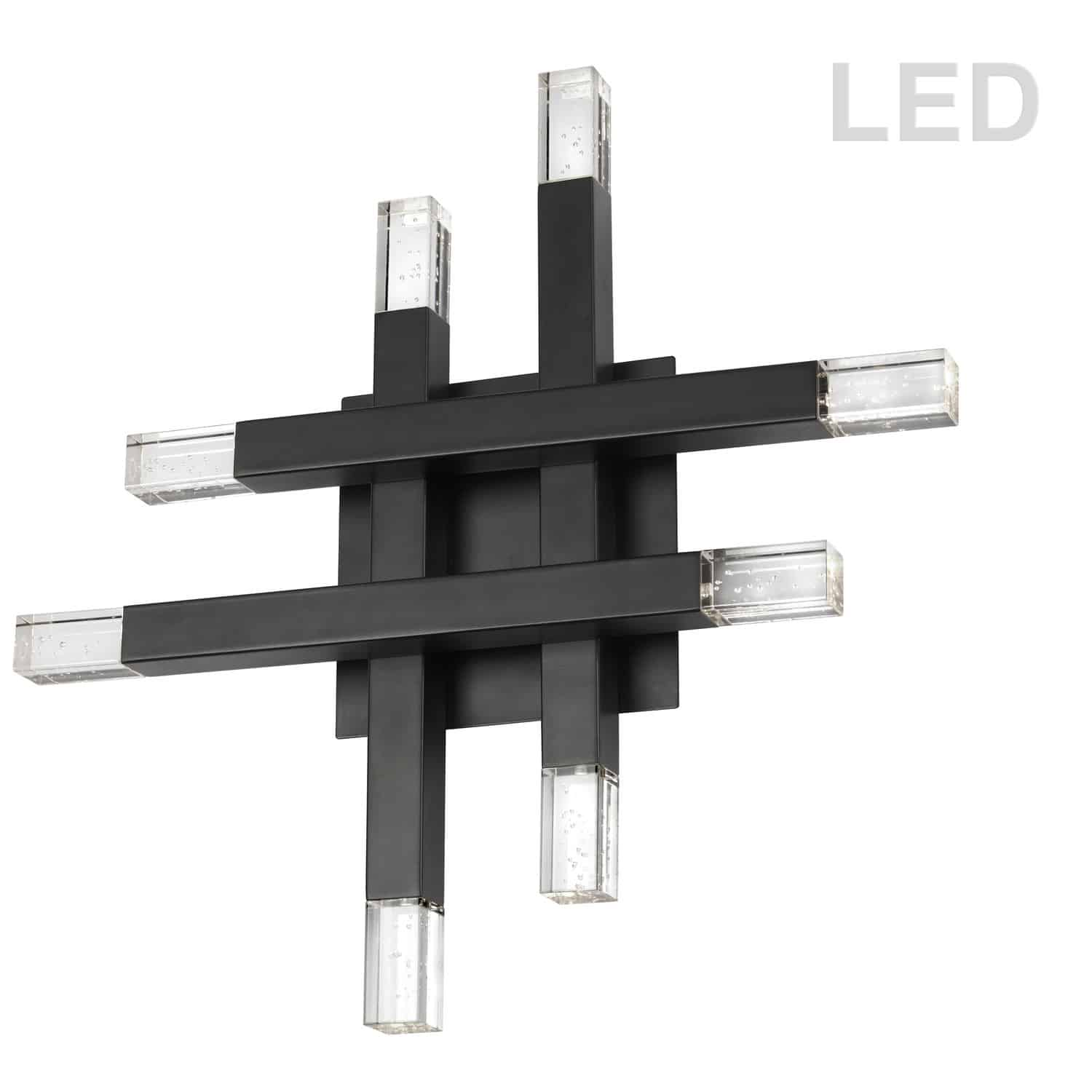 32W Matte Black Wall Sconce w/ Acrylic Diffuser