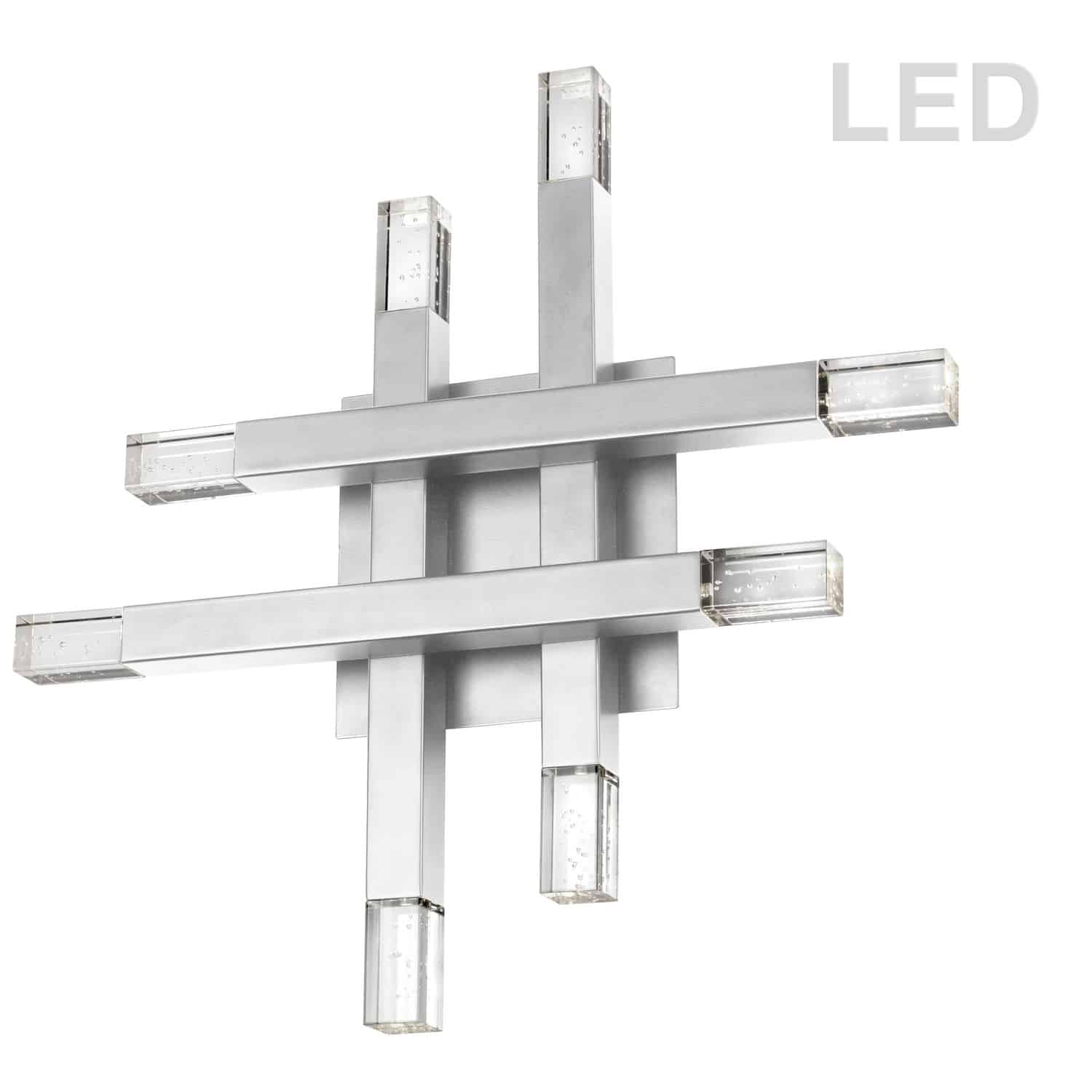 32W Polished Chrome Wall Sconce w/ Acrylic Diffuser