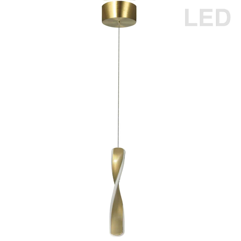 13W LED Pendant Aged Brass Finish