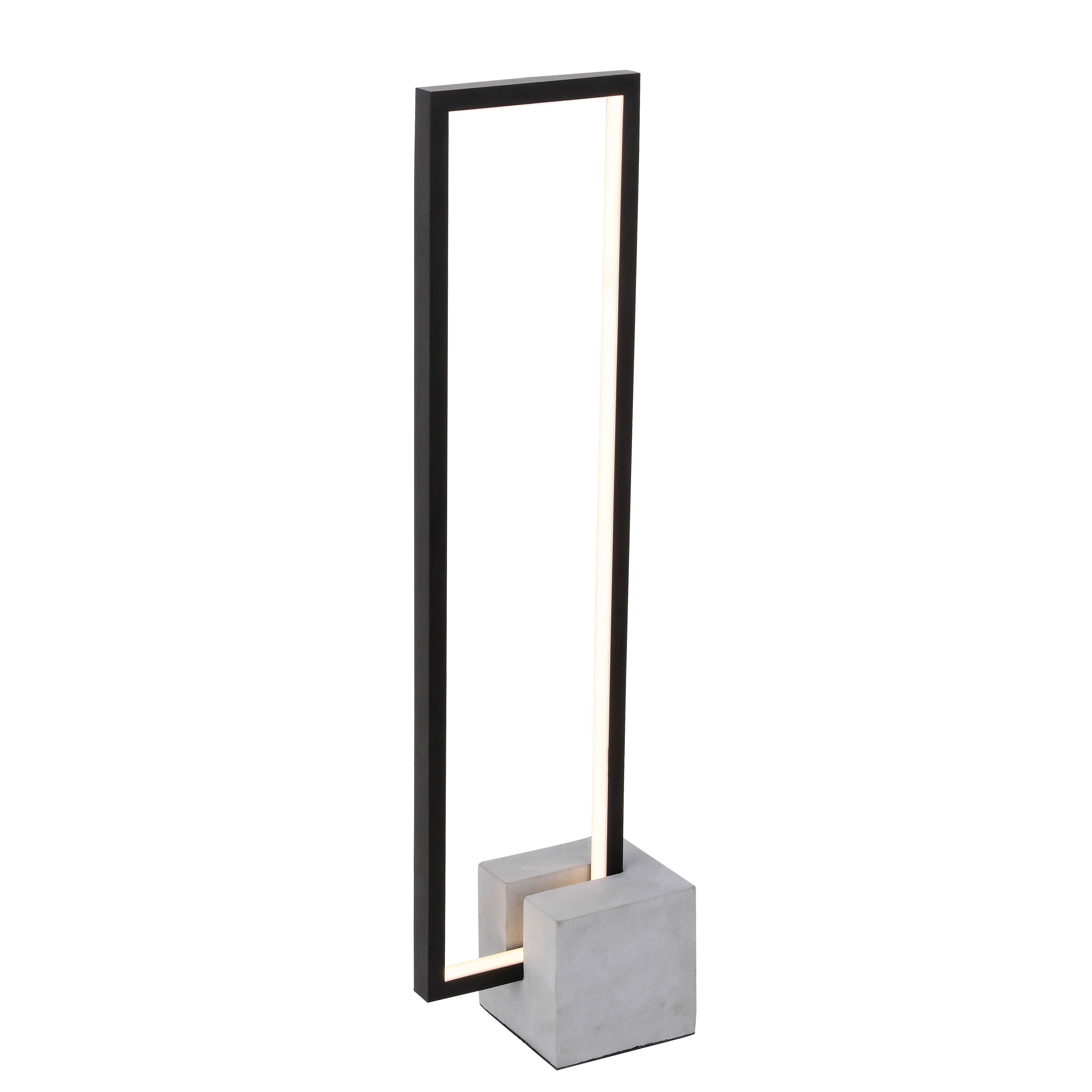 21.6W LED Table Lamp Black Finish with Concrete Base