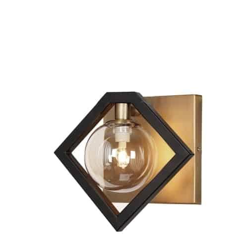 1lt Wall Sconce Matte Black Amp Vintage Bronze Dainolite