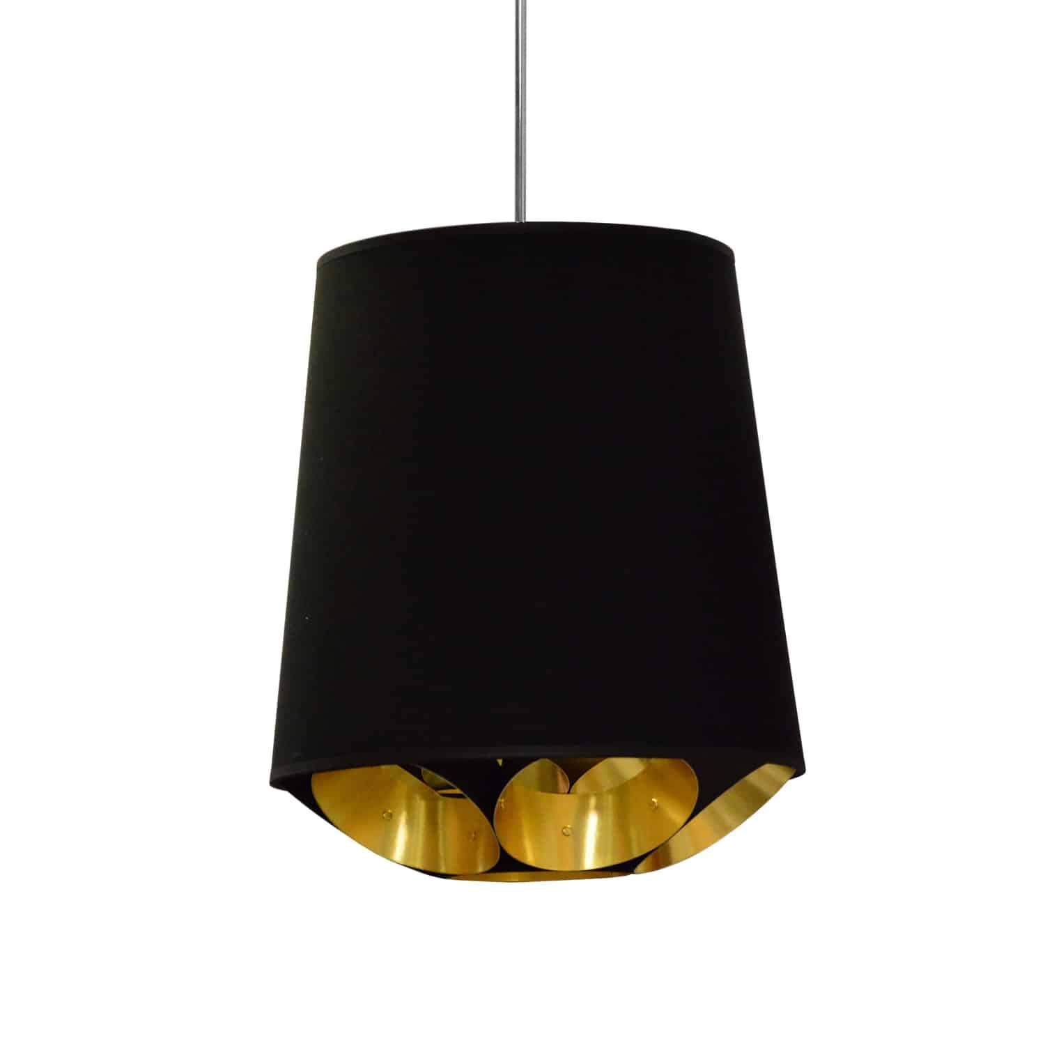1 Light Hadleigh Pendant Black o Gold, Small Black