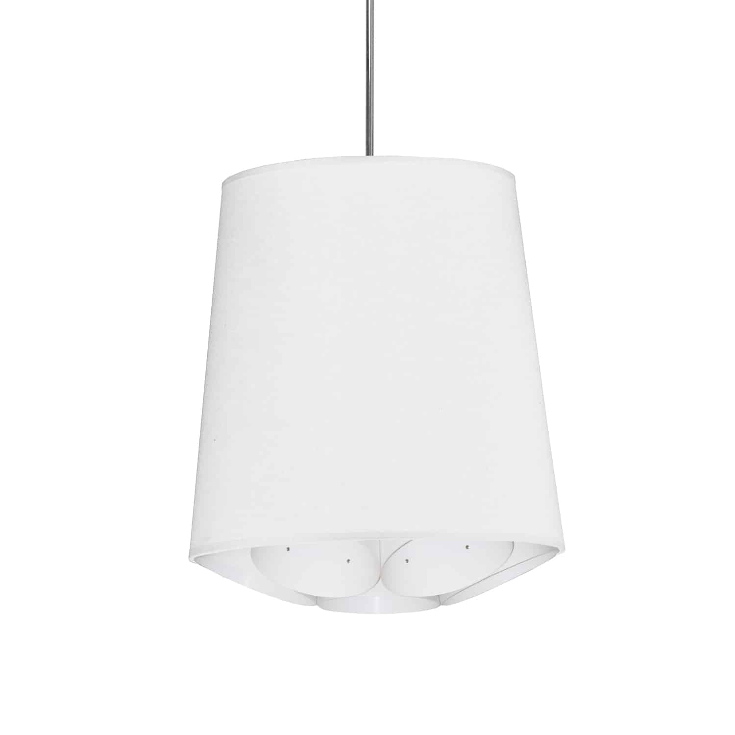 1 Light Hadleigh Pendant JTone White Small Polished Chrome