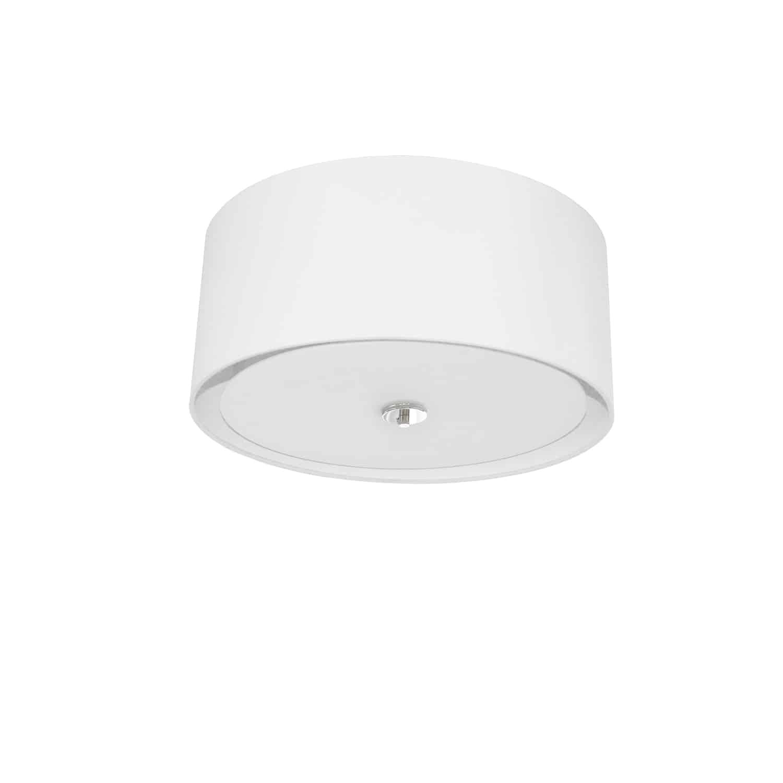 3 Light Helena Flush Mount Polished Chrome White with White  Diffuser