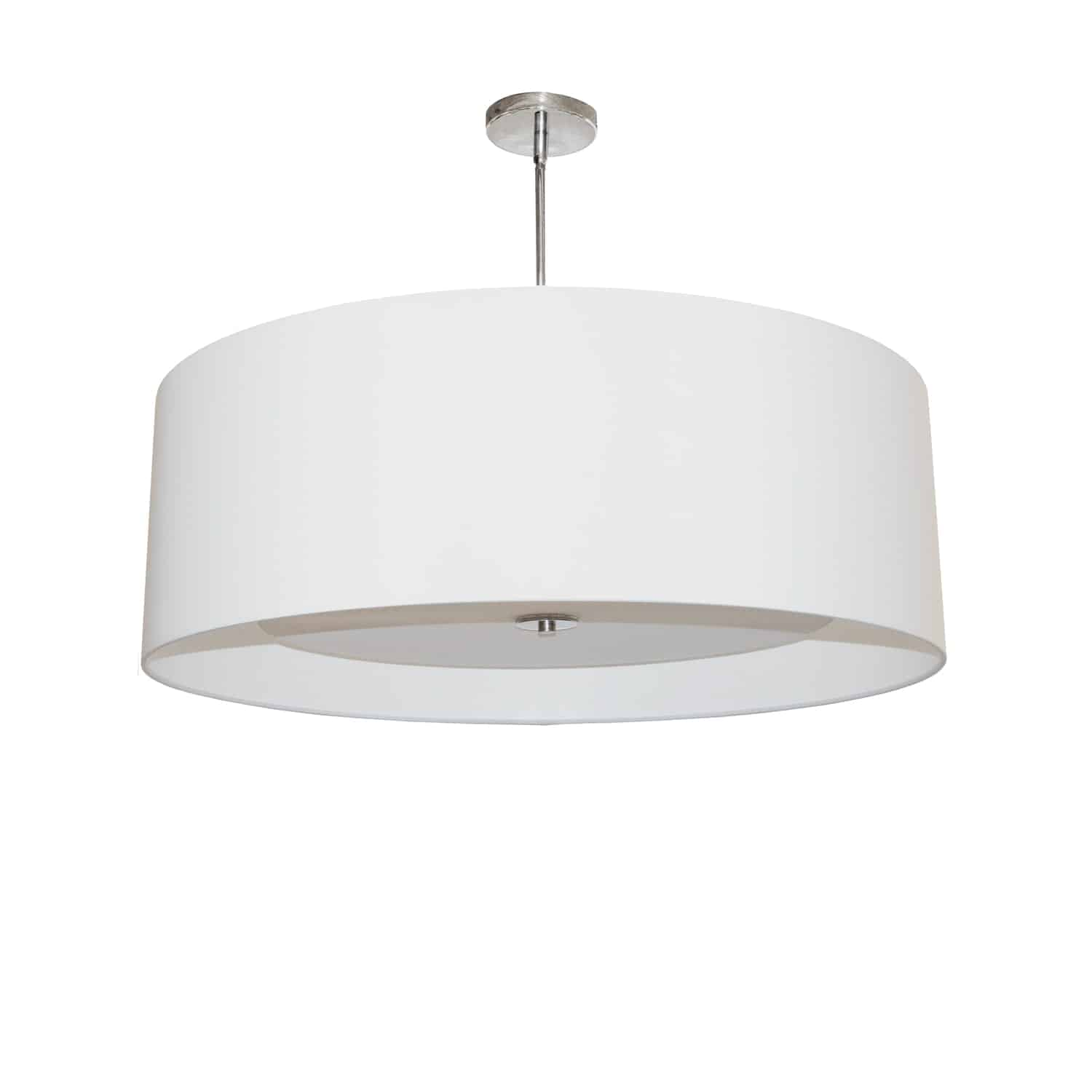 4 Light Helena Pendant Polished Chrome White with White Diffuser