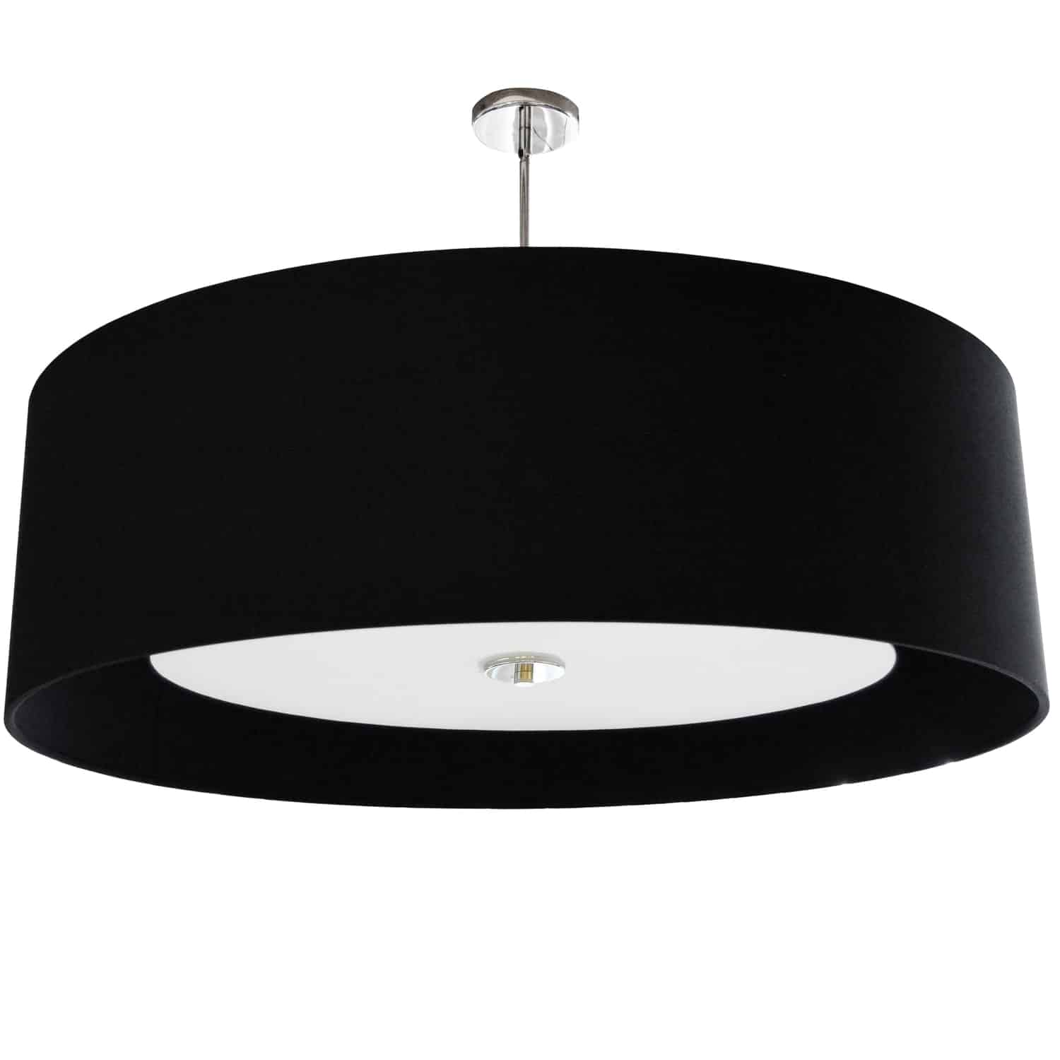 4 Light Helena Pendant Polished Chrome Black with White Diffuser