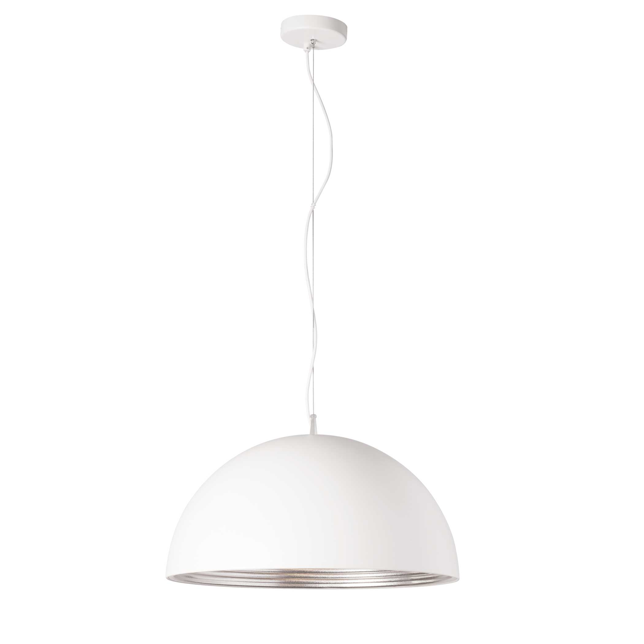 Sleek and stylish, the Helsinki line of lighting fixtures adds a chic fashionable note to your home décor.  Helsinki pendant lighting features a solid, opaque shade and canopy in a variety of shapes with gracefully curved lines. The shade comes in your choice of matte black with a gold finish interior or matte white with a silver finish inside to give you warm lighting in skin flattering shades that will complement most colour palettes, including contemporary neutrals. Available in single bulb configurations, Helsinki lighting is ideal for hallways or smaller rooms and areas.