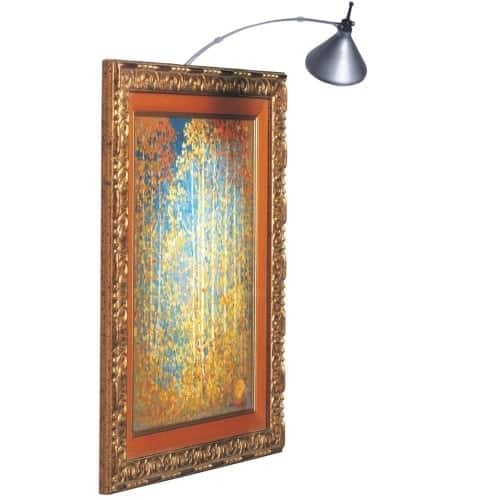 Any gallery owner can tell you that the right lighting can make or break the impact of a work of art. Make sure your art collection gets the views it deserves with our line of Picture Lamps.  Our Picture Lamps offer halogen lighting to illuminate your paintings and other artwork to their best advantage. Options include metal and finish, with accessories that can block harmful UV rays and help to eliminate glare. Display your pictures to their best advantage with dedicated Picture Lamps.
