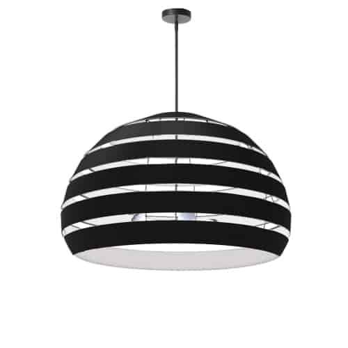 4 Light Matte Black Chandelier w/ Black Shade