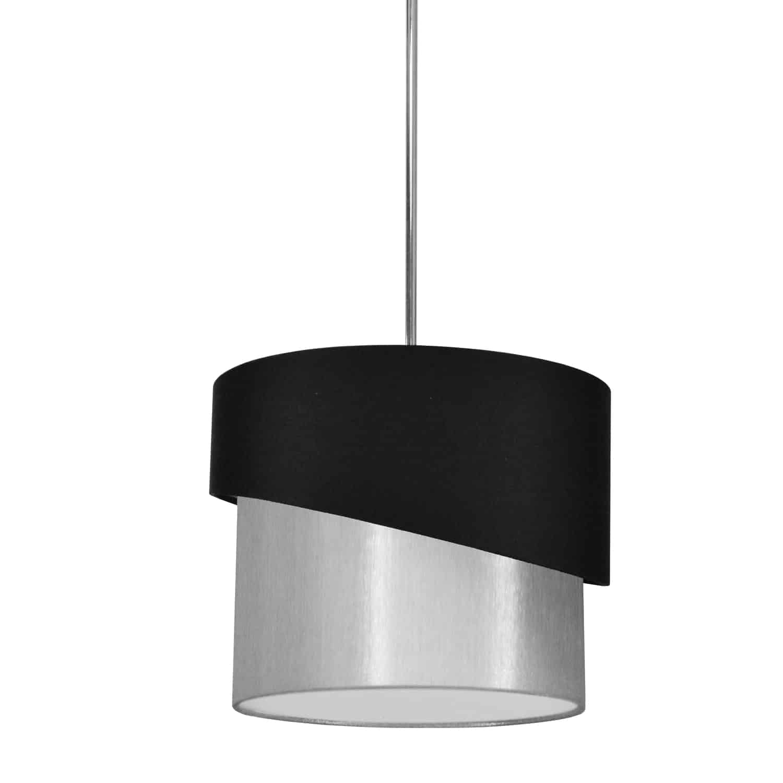 1 Light Jazlynn Pendant, Black on Grey Shade w/ 790 Diff