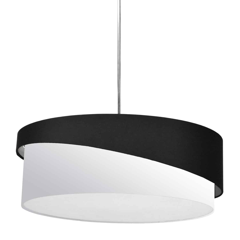 3 Light Jazlynn Pendant, Black on White Shade w/ 790 Diff