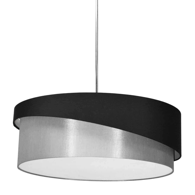 3 Light Jazlynn Pendant, Black on Grey Shade w/ 790 Diff