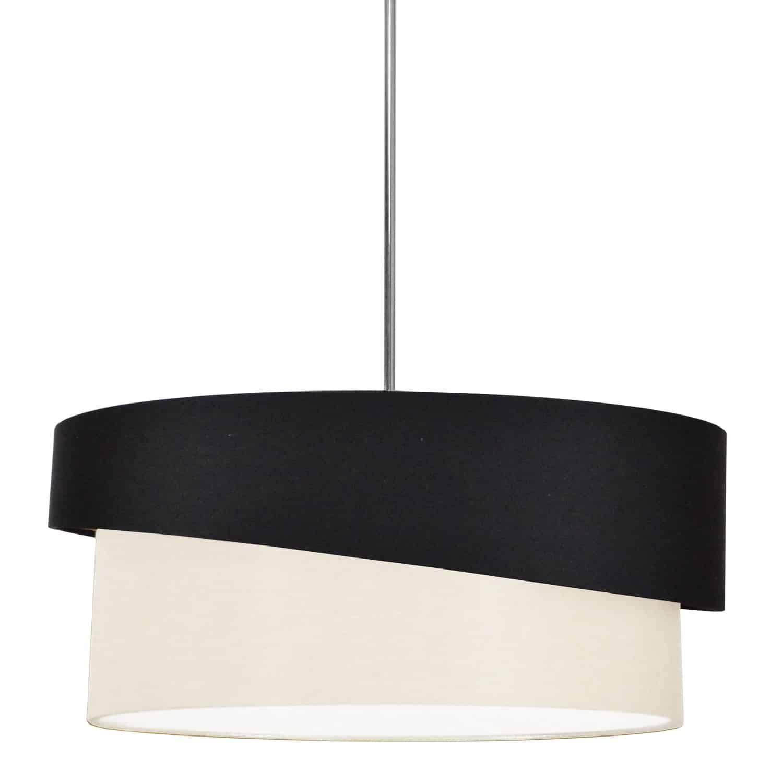 3 Light Jazlynn Pendant, Black on Cream Shade w/ 790 Diff