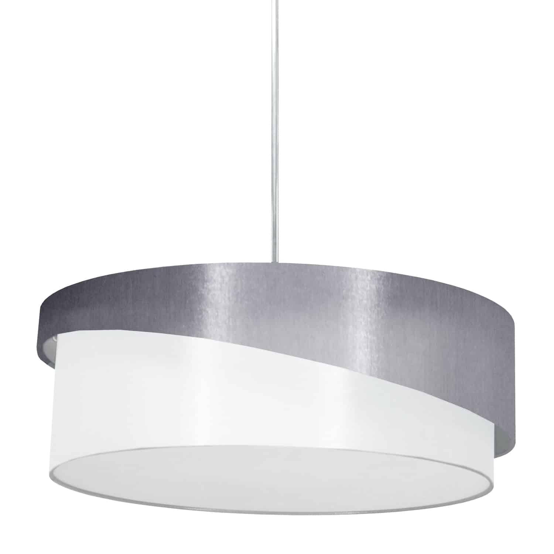 3 Light Jazlynn Pendant, Grey on White Shade w/ 790 Diff