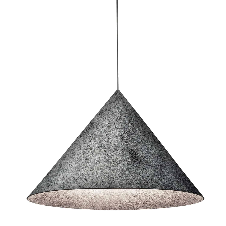1 Light Incandescent Pendant Grey Felt Shade