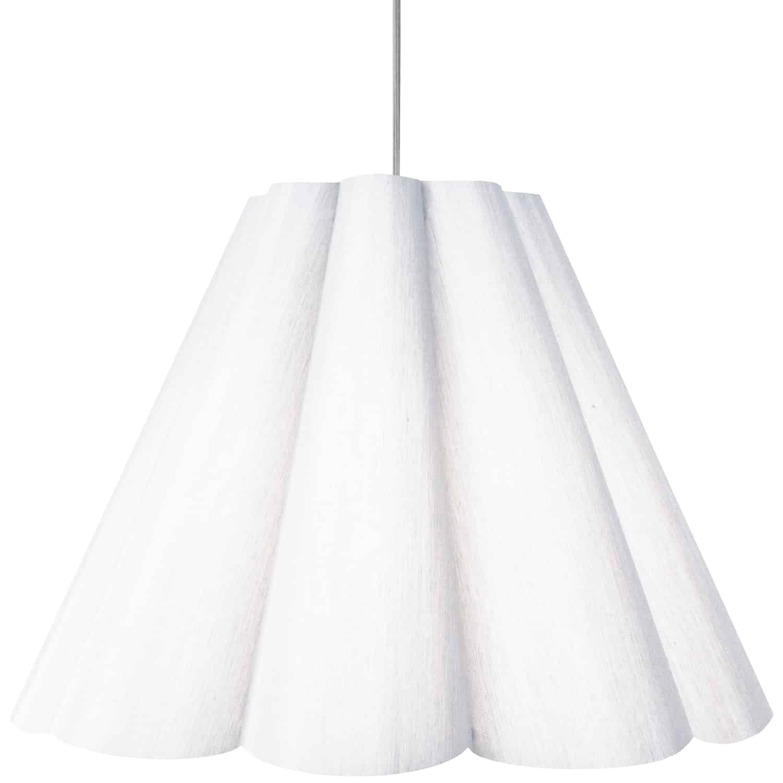 4 Light Kendra Pendant Milano White, Large Polished Chrome