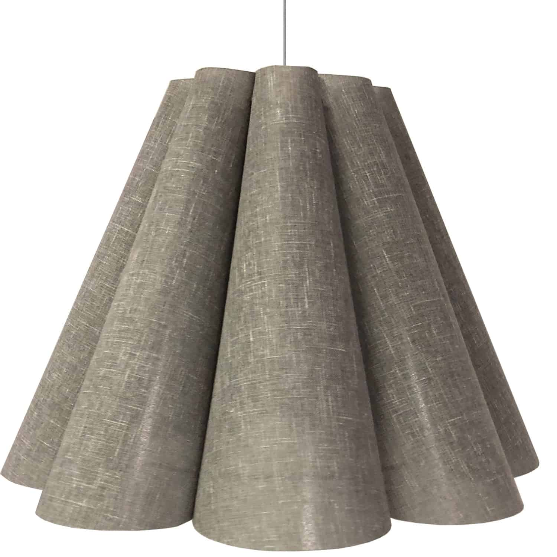 4 Light Kendra Pendant Milano Grey, Large Polished Chrome