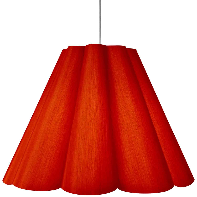 4 Light Kendra Pendant JTone Red, Large Polished Chrome