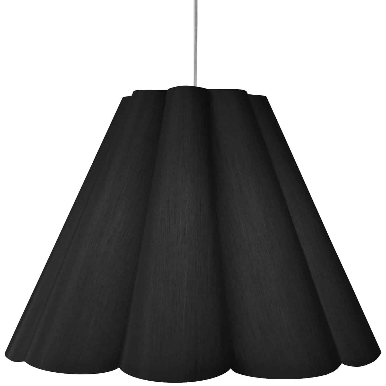 4 Light Kendra Pendant JTone Black, Large Polished Chrome