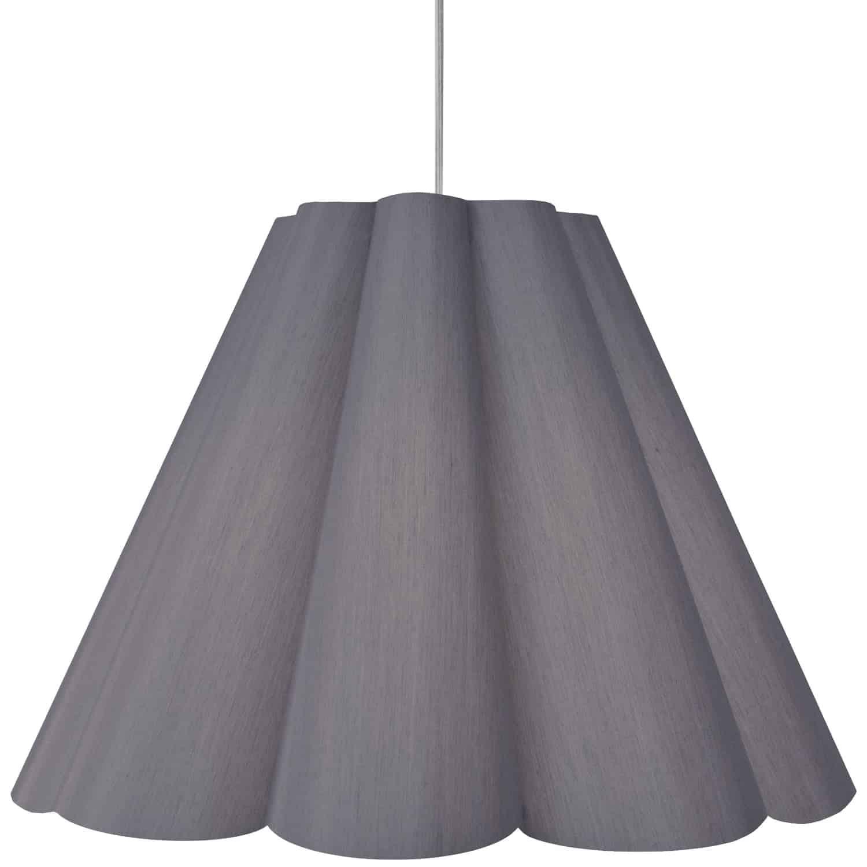 4 Light Kendra Pendant SGlow Grey, Large Polished Chrome