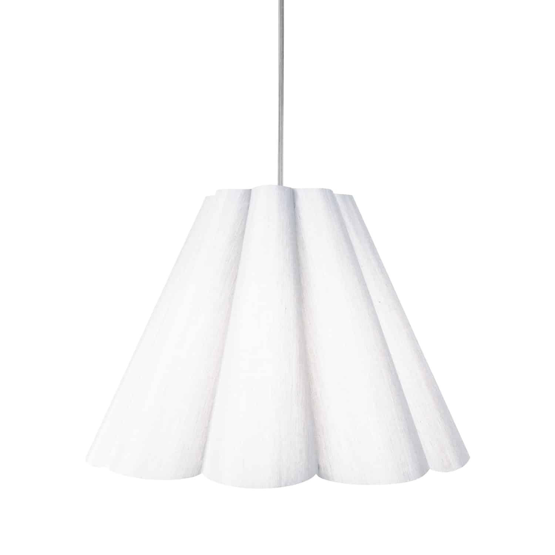 4 Light Kendra Pendant Milano White, Medium Polished Chrome