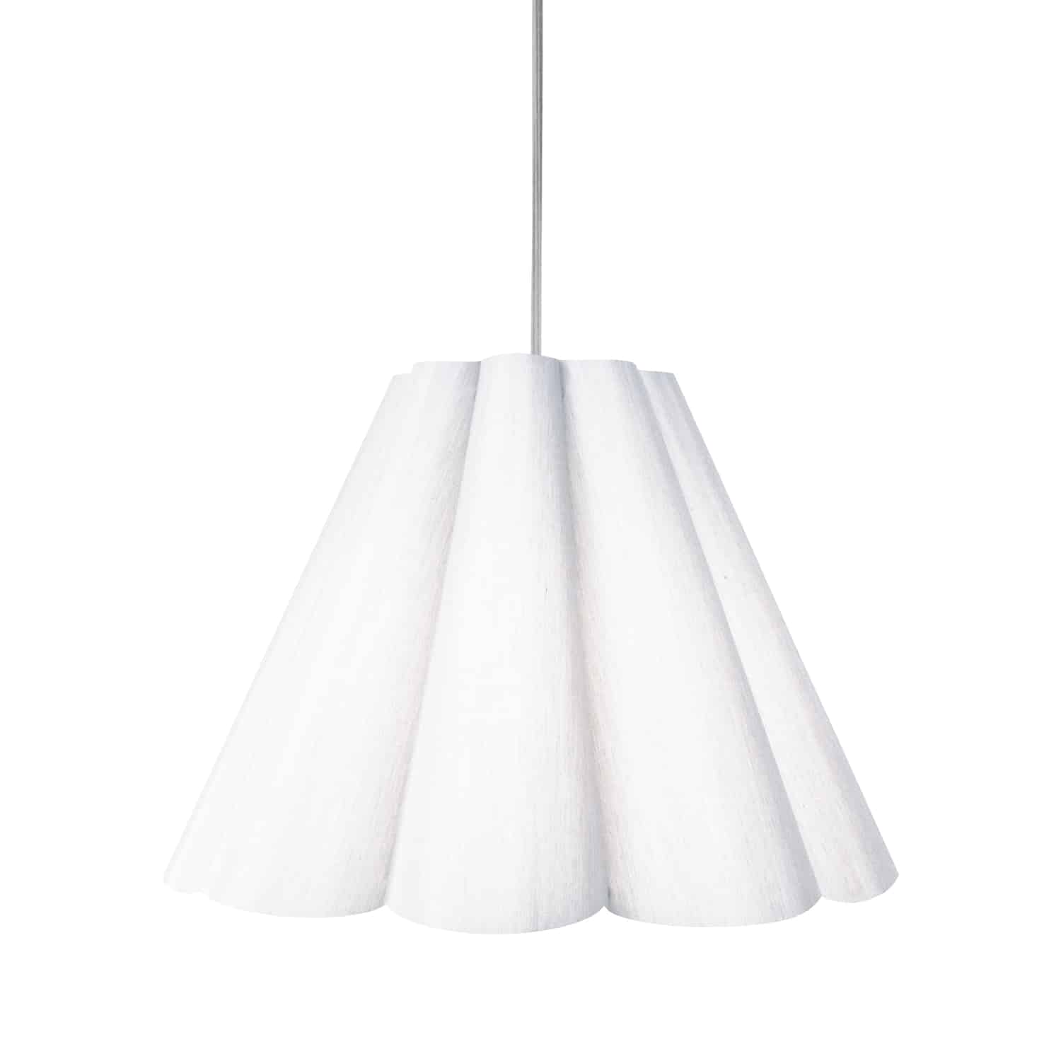 4 Light Kendra Pendant Milano White, Medium Polished Chrome