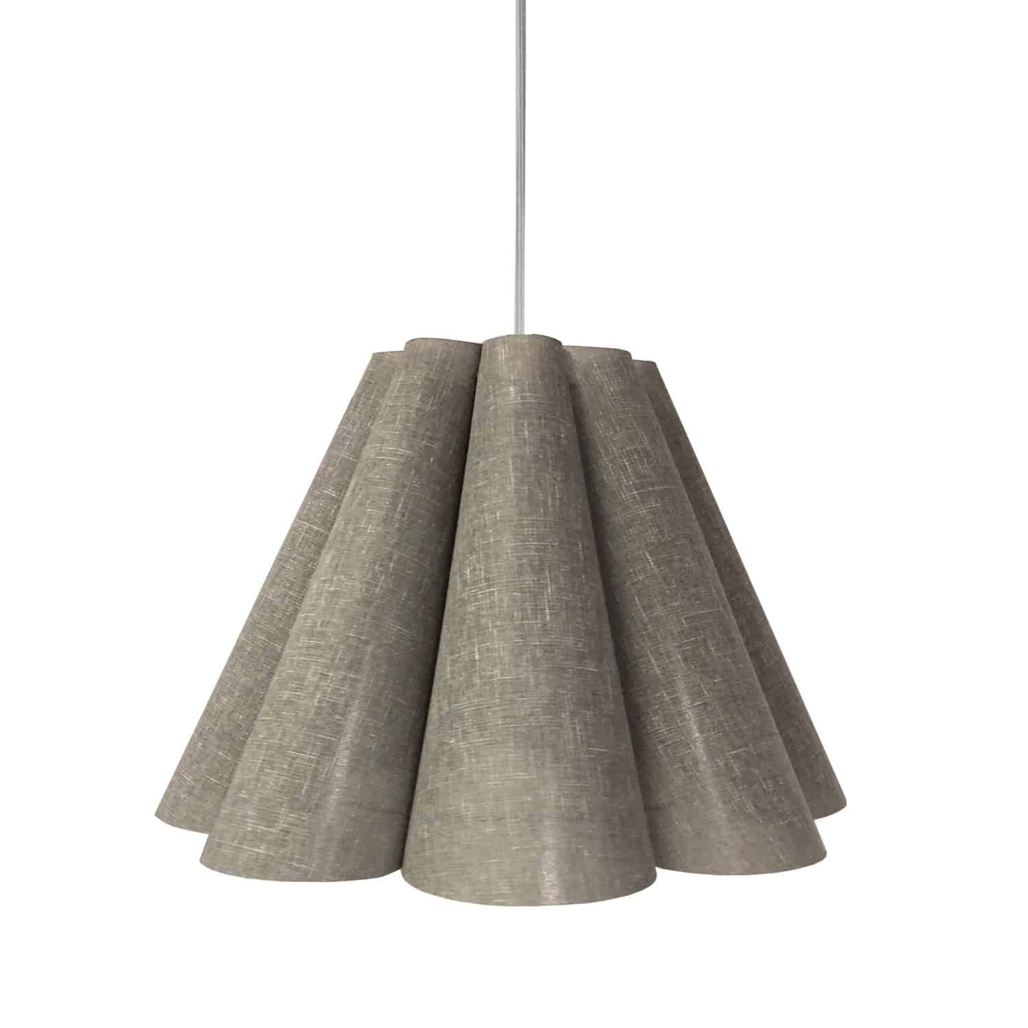 4 Light Kendra Pendant Milano Grey, Medium Polished Chrome