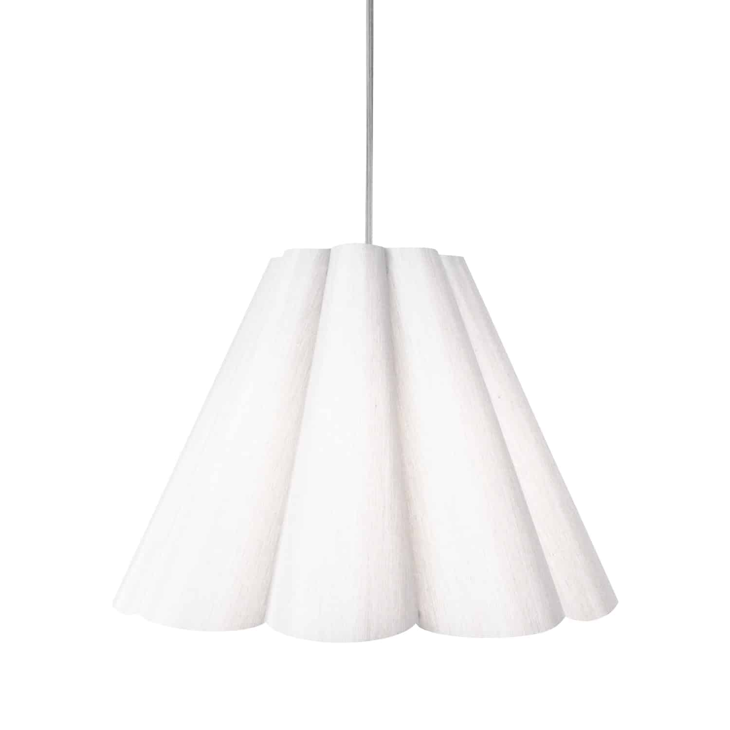 4 Light Kendra Pendant JTone White, Medium Polished Chrome