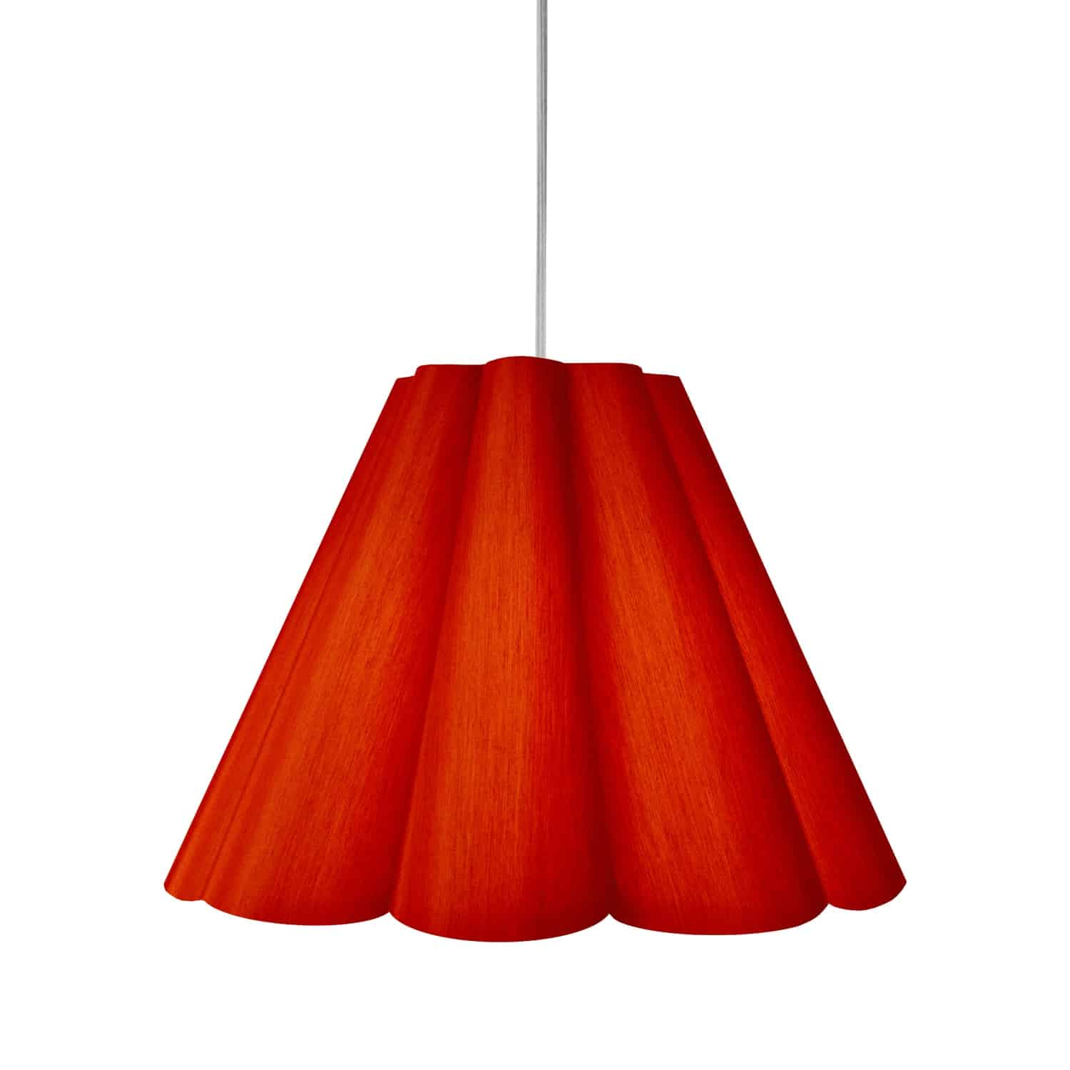 4 Light Kendra Pendant JTone Red, Medium Polished Chrome