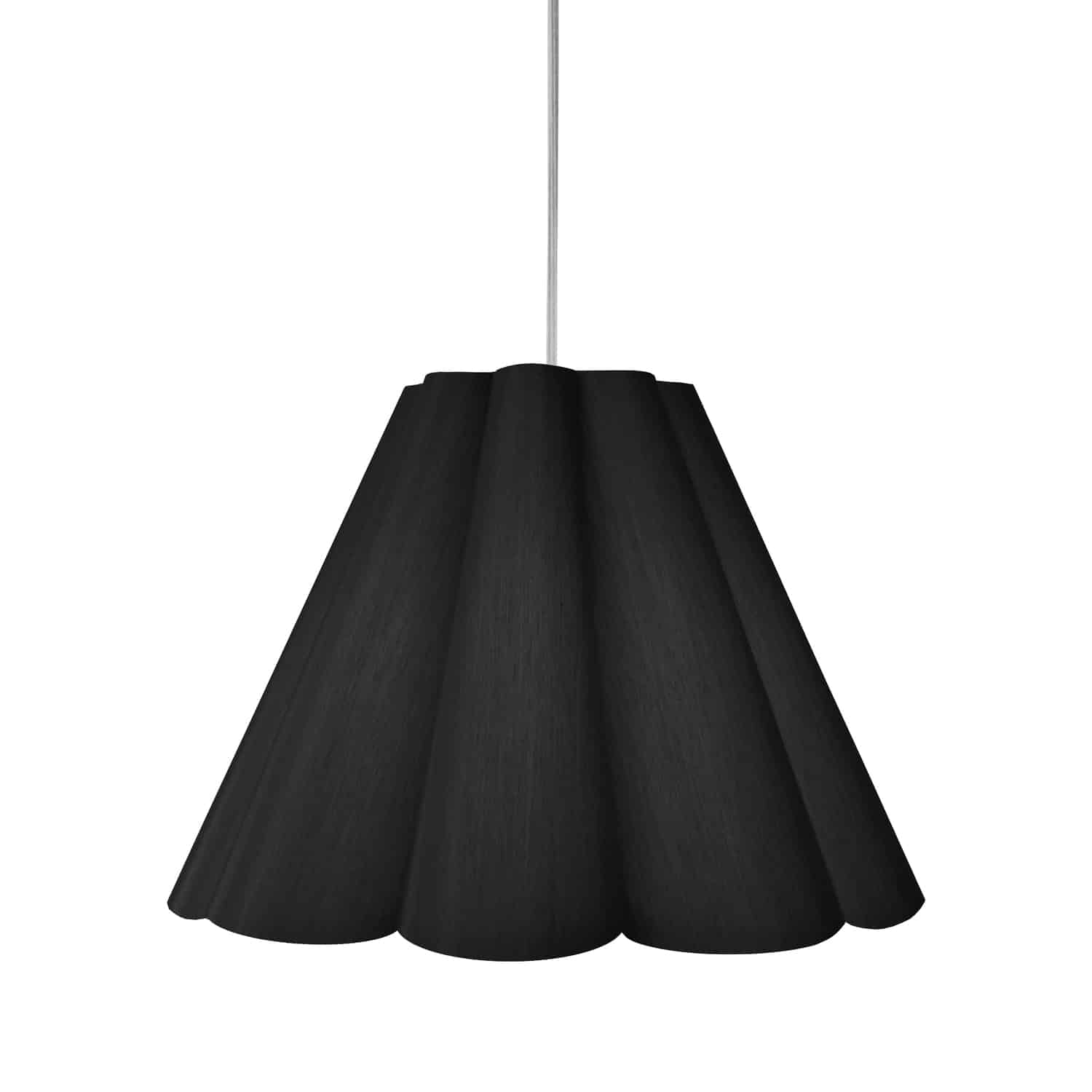 4 Light Kendra Pendant JTone Black, Medium Polished Chrome