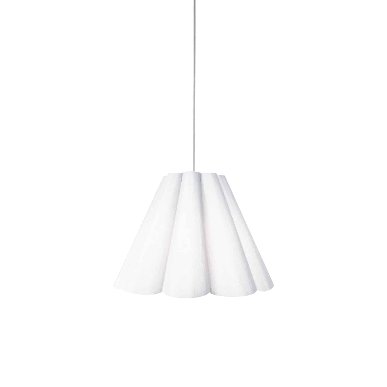 4 Light Kendra Pendant Milano White, Small Polished Chrome