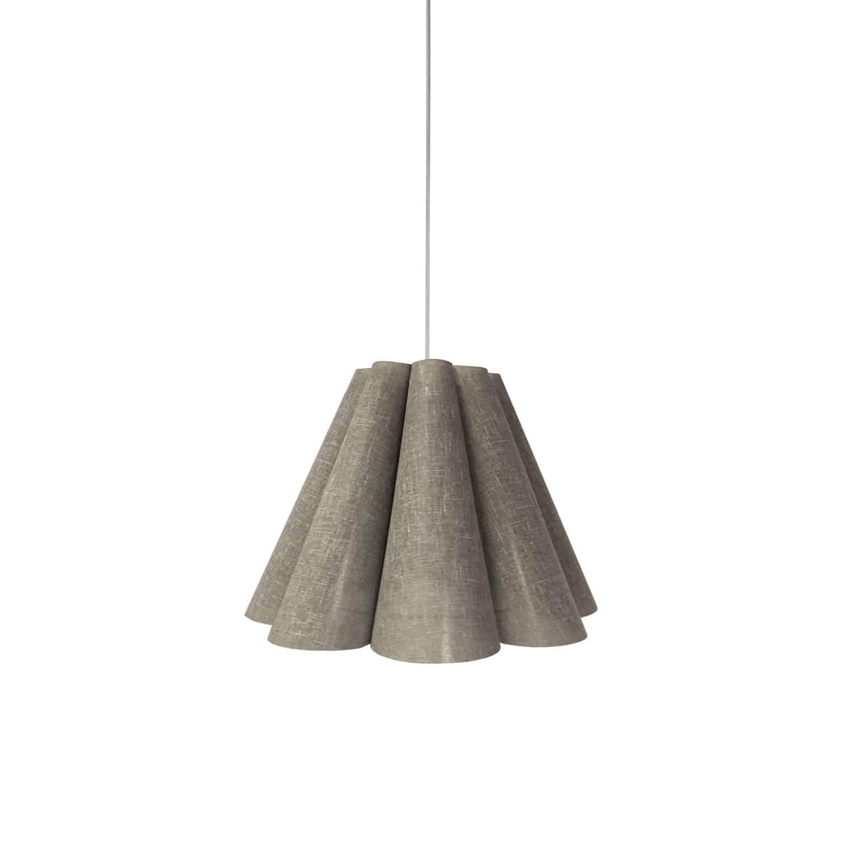 4 Light Kendra Pendant Milano Grey, Small Polished Chrome