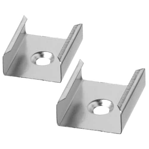 Surface Mounting Clip for LD-TRK-LPC1 - Aluminum Extrusions. Two per Package.