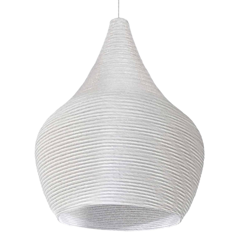 1 Light Pendant, White Finish