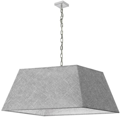 1 Light X-Large Polished Chrome Milano Pendant Grey/Clear Shade