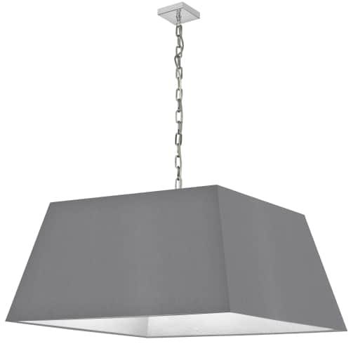 1 Light X-Large Polished Chrome Milano Pendant Grey Shade
